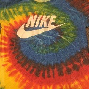 cymonnes Tops - Tye dye Nike tee